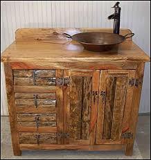 rustic bathroom sinks and vanities rustic log bathroom vanity log vanity with minor pan copper