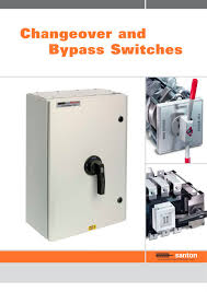 changeover and bypass switches santon pdf catalogue technical