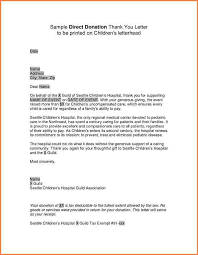 4 sample thank you letter for donation to adjustment letter