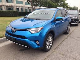 toyota 2016 models usa toyota u0027s facelifted 2016 rav4 and new rav4 hybrid snagged out in