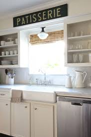kitchen style white subway tile backspash all white farmhouse