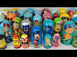lots nesting dolls pj masks paw patrol bubble guppies