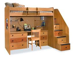 Bunk Bed With Desk And Stairs Excellent And Modern Loft Bunk Bed With Stairs And Desk