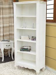White Distressed Bookcase by Homescapes Vintage Bookcase With Cabriole Legs New Orleans French