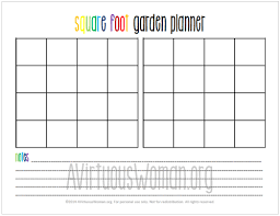 printable square foot garden planner