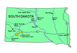 south dakota map with cities south dakota us state powerpoint map highways waterways capital