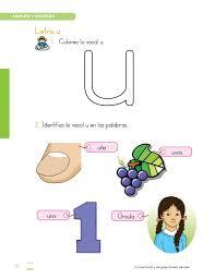 imagenes q inicien con la letra u texto comunicacion y lenguaje 1er grado