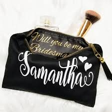 bridal party makeup bags personalized bridesmaid makeup bag will you be my