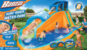 amazon com banzai surf rider inflatable water park toys u0026 games