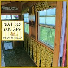 How High To Hang Curtains The Chicken Chicken Nest Box Curtains More Than A Fashion