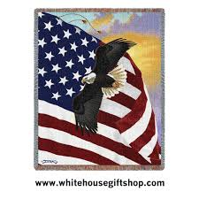 Flag Day Usa Blanket U0026 Throw Great Eagle Of The United States With American