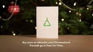 w k christmas card from recycled trees the inspiration room