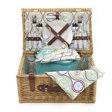 lovely original complete 4 person harrods picnic basket set by