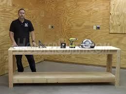 diy 8ft economy workbench part 1 basic construction