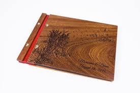 personalized scrapbook albums mahogany wood albums waldengoods