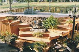 low level decking above ground pool decks best above ground pool