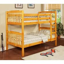 Youth Bunk Beds Elise Youth Bunk Bed Honey Pine Box 2 Of 2 Walmart