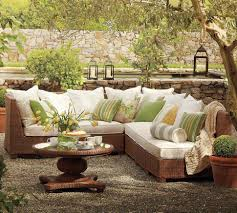 Outdoor Living Room Sets Pottery Barn Outdoor Furniture Sofa And Pillow Home Design Ideas