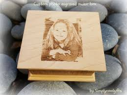 Engravable Music Box Photo Gift Photo Gift For Mom Custom Engraved By Simplycoolgifts