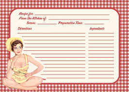 retro recipe card template