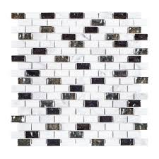 Decorative Metal Sheets Home Depot by Jeffrey Court Polar Ice 11 3 8 In X 12 In X 8 Mm Stone Glass