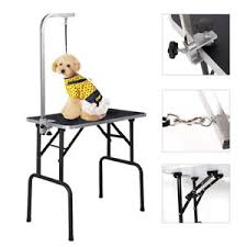 table top grooming table 32 adjustable pet dog cat grooming table top foam w arm noose