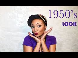 1950 african american hairstyles 1950 s look tutorial natural hair make up youtube