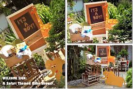 Get Crafty with a Wild Wel e Display for a Safari Baby Shower