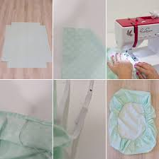 Mini Crib Sheet Tutorial How To Sew Mini Crib Sheets Lovely Indeed