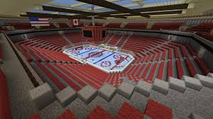 i built a hockey arena in minecraft more photos in comments hockey
