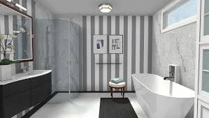 Modern Wallpaper For Bathrooms Modern Black White Bathroom With Marble Accents And