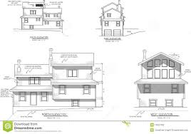 floor plans and elevations of houses house plans elevation view stock illustration illustration of