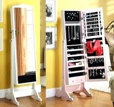 mirror and jewelry cabinet jewelry box mirror stand brilliant tall mirror jewelry box white