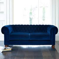 chesterfield 3 seater velvet sofa blue costco uk