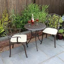 Aluminium Bistro Chairs Bentley Garden Furniture 3 Cast Aluminium Bistro Set Table