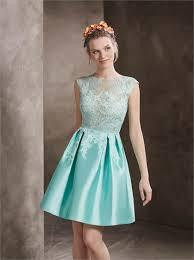 mini short satin u0026 lace blue party dresses sdpg0076