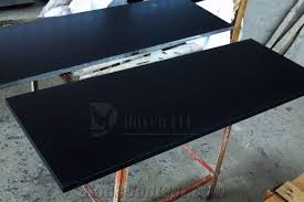 black granite table top mongolia black prefab honed granite table tops from china