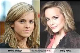 emma watson looks like emma watson totally looks like emily hirst totally looks like