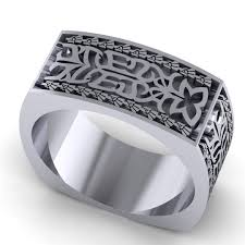 Ring With Initials Aztec Initials Wedding Ring U2014 Takayas Custom Jewelry