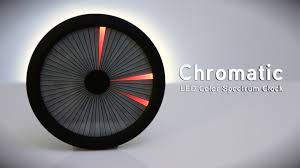 Color Spectrum Chromatic Led Color Spectrum Clock From Thinkgeek Youtube