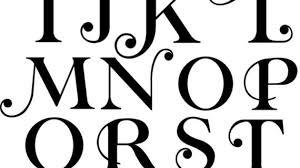 all letter in different designs decorative e f g h alphabet