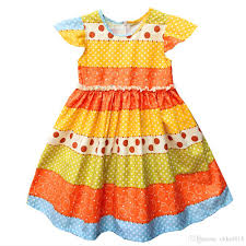 pattern dress baby girl 2018 girls dress summer wedding dress baby girl litter girls clothes