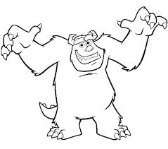 sully monsters coloring pages clipart free clipart