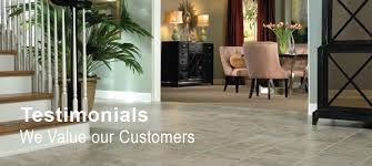 customer testimonials for affordable carpet and flooring in