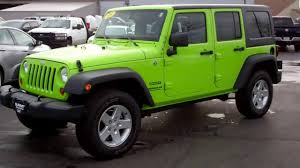 sold 6j63a 2013 jeep wrangler unlimited sport gecko green www