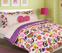 Girls Peace Sign Bedding by Orange Bedding Sets U2013 Ease Bedding With Style