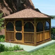 Gazebo On Patio by Outdoor Gazebo Kits Patio Or Garden Gazebos Wooden Screened