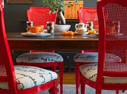 red dining room chairs eclectic dining room via sarah greenman