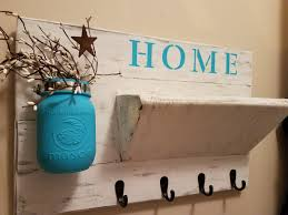 Mail And Key Holder Rustic Home Decor Key Rack Farmhouse Decor Distressed Home