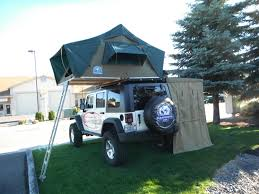 jeep wrangler overland tent 2 door with a roof top tent archive expedition portal